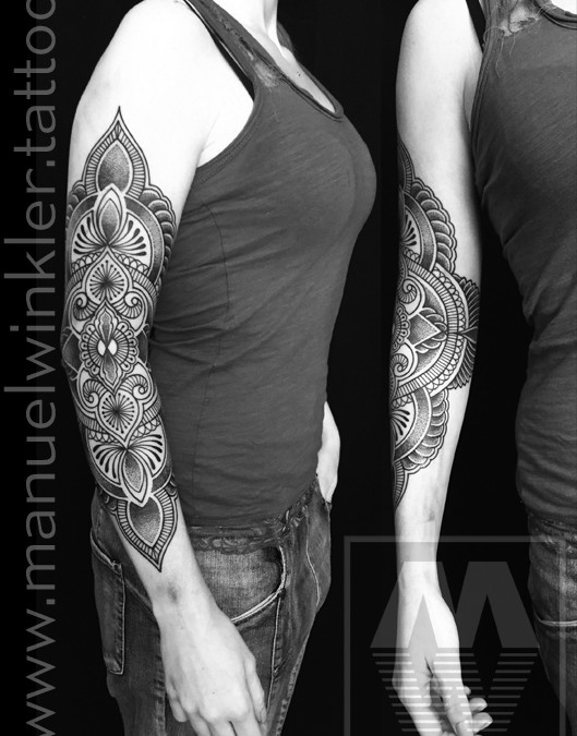 result of my last 2 working days, start of a new sleeve… IN PROGRESS