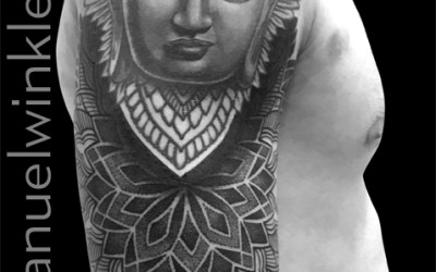 … from my guestspot last week at utopian tattoo tribe in valencia (buddha by another artist)